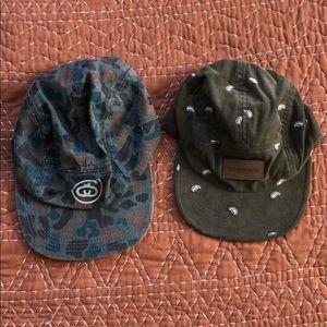 OBEY & STUSSY 5 panel hats
